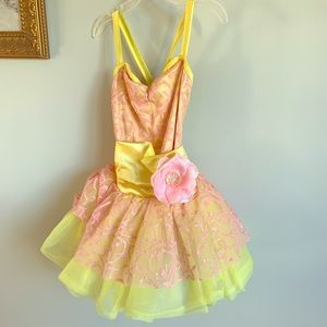 3/$15!! Weissman yellow pink Belle costume